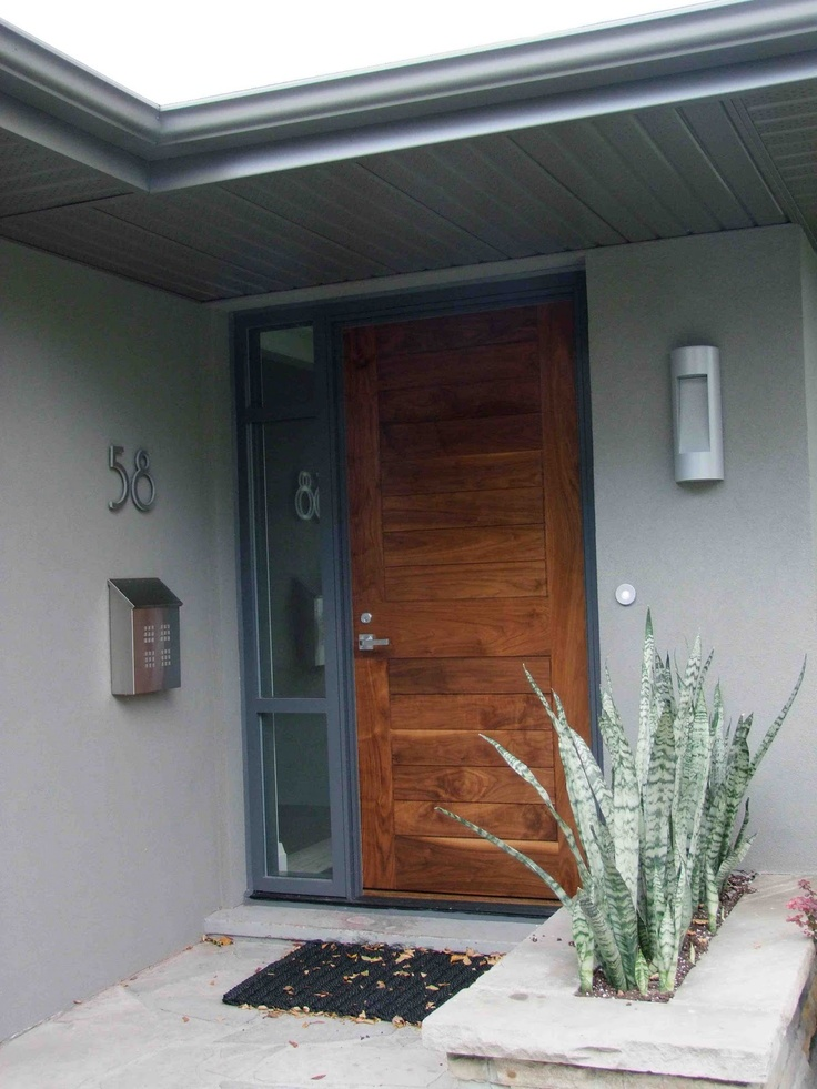8 best images about modern wood front doors on pinterest for Simple modern wood house