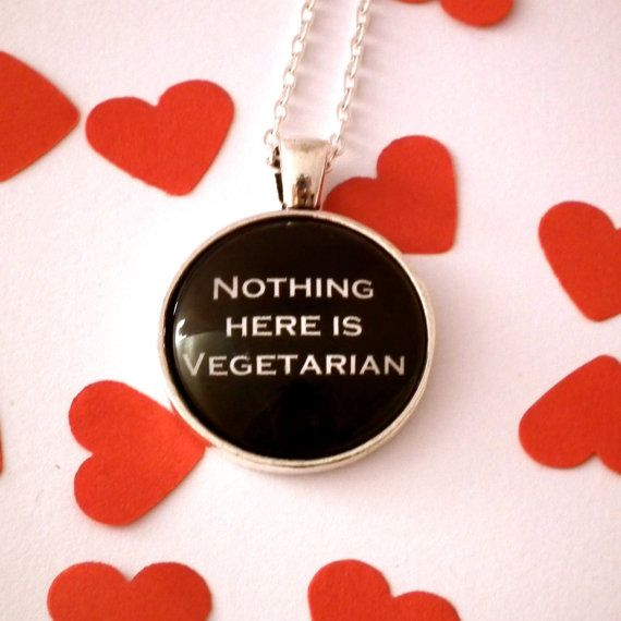 Hannibal Necklace Nothing Here Is Vegetarian by TwoTimeVintage, £9.80