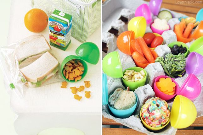 Easter egg snack containers cute food fruit kids diy snacks