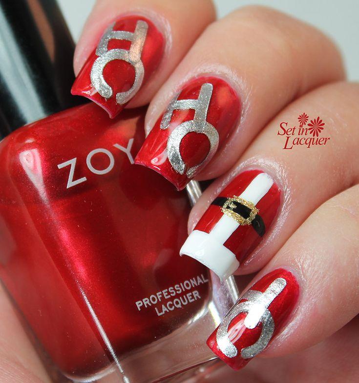 1739 best nail art christmas and winter holidays images on ho ho ho santa nail art prinsesfo Gallery