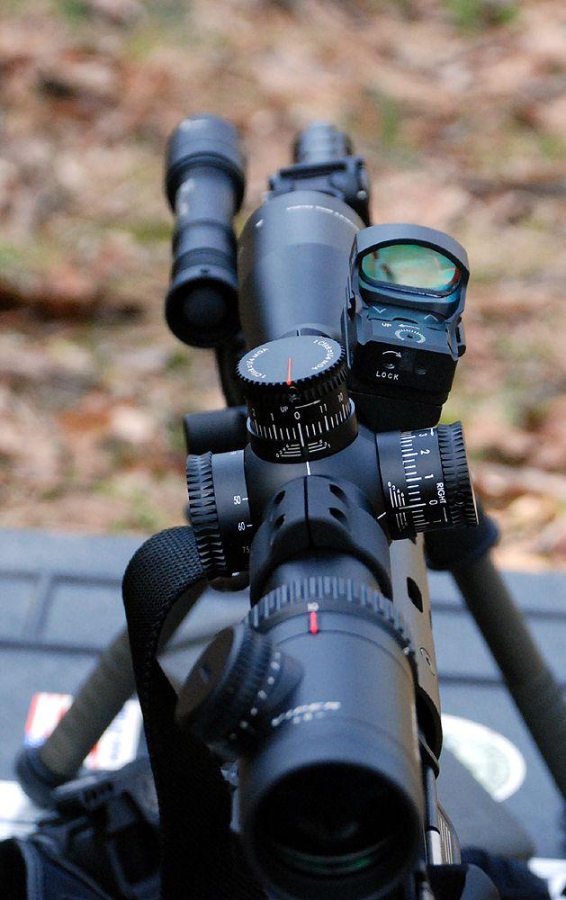 Vortex Viper PST 2.5-10x32, FFP, Illuminated; Larue SPR mount, troy battle sights. ~$900