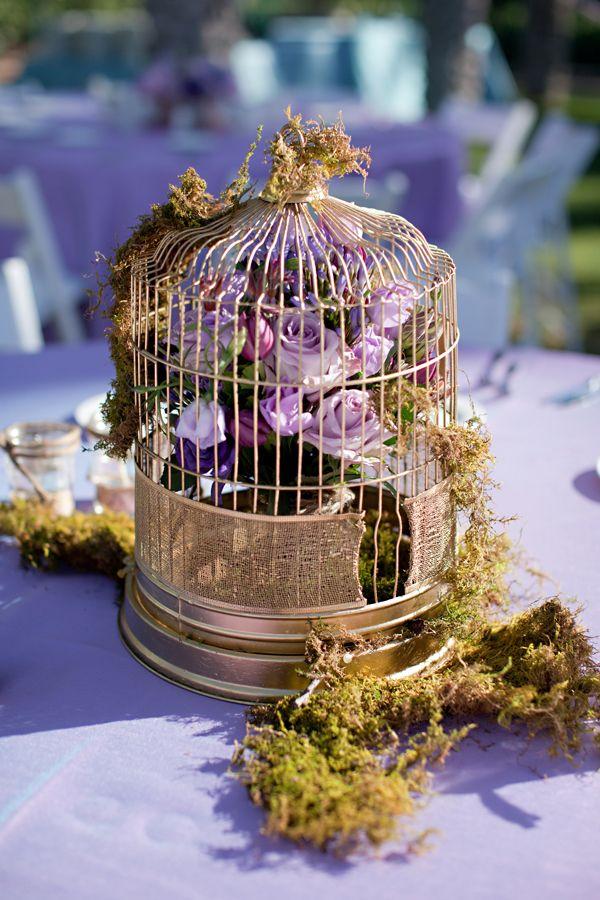 Gold birdcage round table centerpieces pinterest