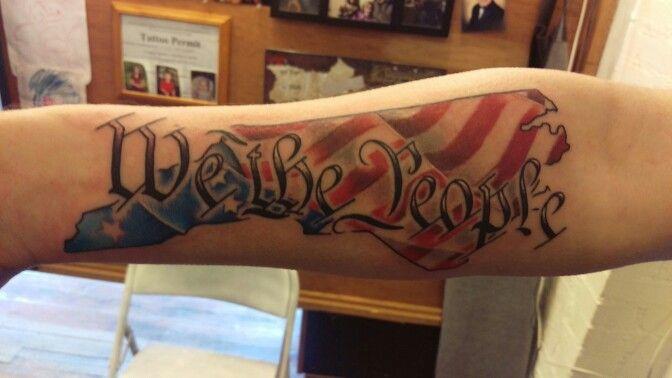 North carolina american flag tattoo we the people for North carolina tattoo ideas