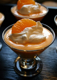 Creamsicle Pudding.  Delicious and low cal :)