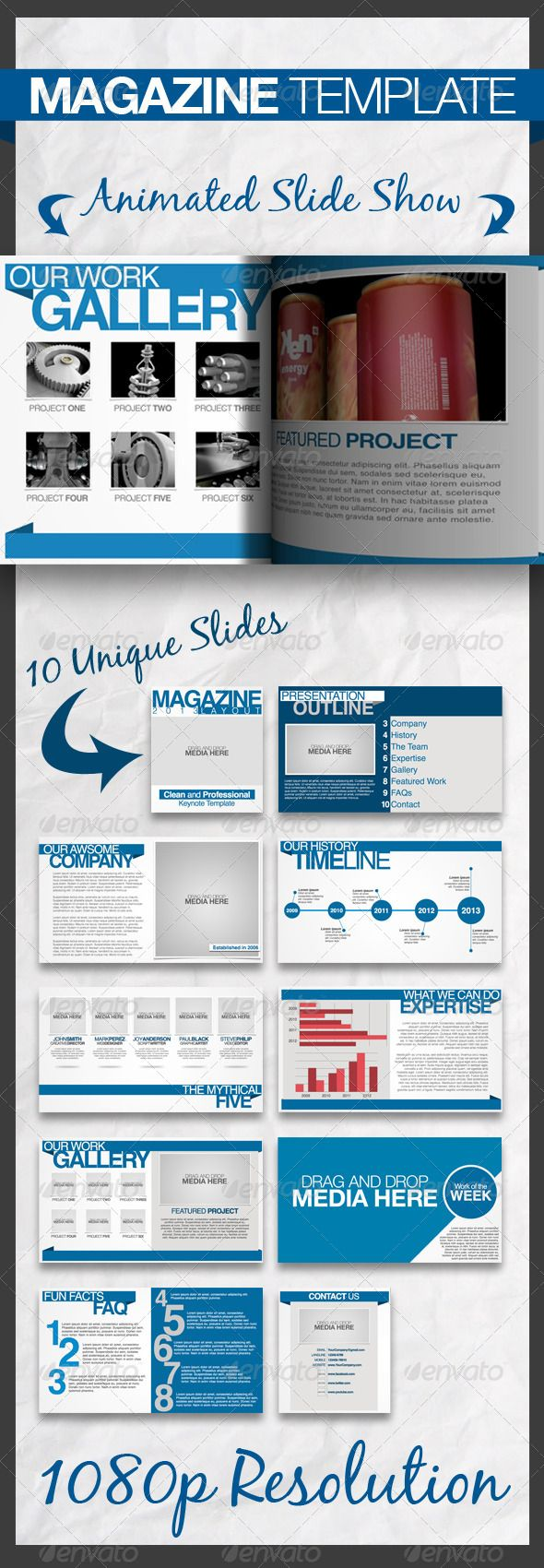 Magazine Keynote Presentation Template