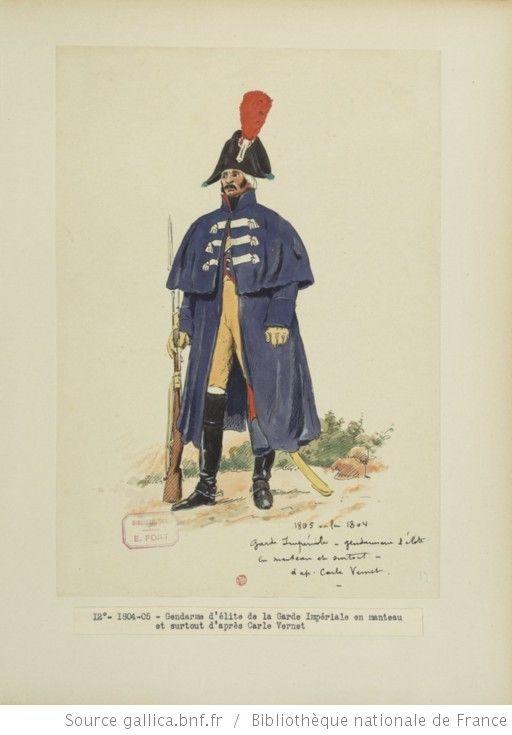 [Grenadiers-gendarmes, gendarmerie d'élite de la garde des consuls et de la garde impériale, 1793-1815 / Notes et aquarelles par E. Fort.] - 26