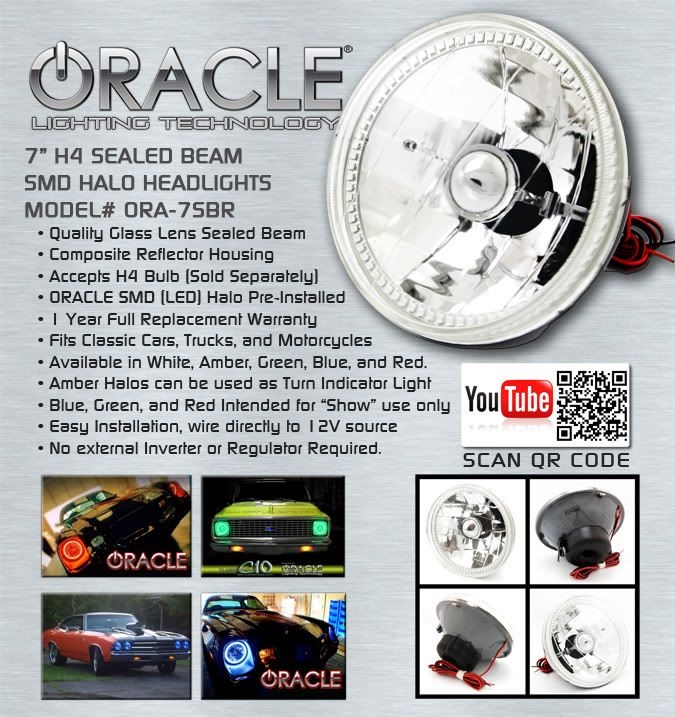 "Fits any vehicle that requires 7"" Sealed Beam Headlight... Last 2 days to order, to ensure Christmas delivery... http://dragonbydesign.bigcartel.com/product/7-sealed-beam-headlights"