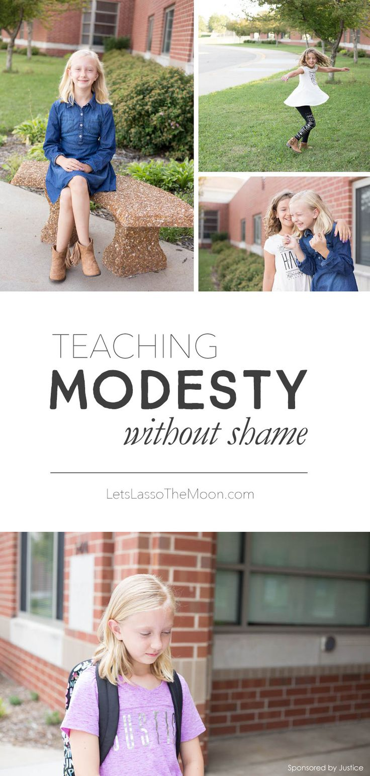 Great tips for teaching your daughter how to be modest with her clothing choices.