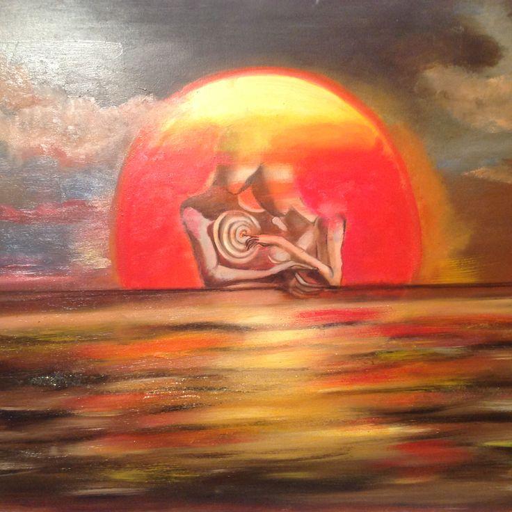 Sentimento al tramonto Olio su tela