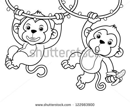 Cartoon monkey Stock Photos, Images, & Pictures | Shutterstock