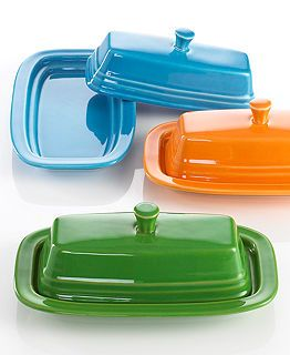 Fiesta Serveware Collection - Butter dish and pitcher in lemongrass