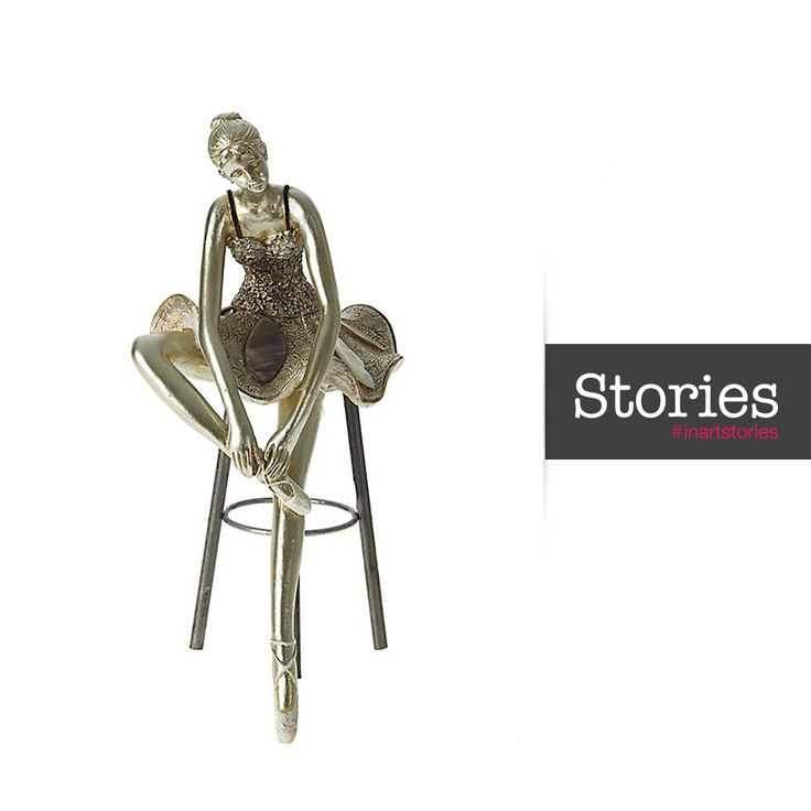 Figurine inspired by Prima Ballerina Sylvi Guillem's first solo performance in Don Quixote in 1983. http://bit.ly/Prima_Ballerina #Inart  #EveryPieceHasAstory