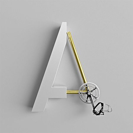 The Bicycle Alphabet Typography