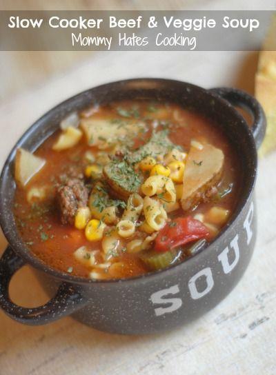 Slow Cooker Beef & Veggie Soup | Seasons, Happenings and ...