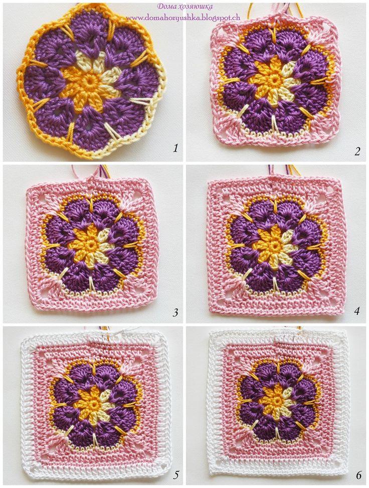 Как вязать пледы и подушки мотивом «Африканский цветок» — Рукоделие