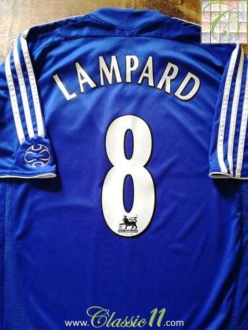 76a34a324aa Official Umbro Chelsea home football shirt from the 2005/06 season.  Complete with Lampard #8 on the back of the shirt in official Premier  League lettering.