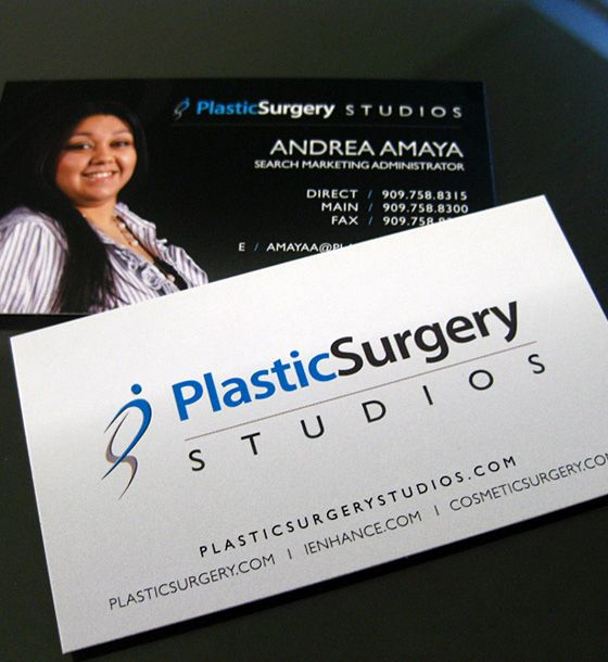 nice Plastic Surgery Business Card for Surgeons and Clinics