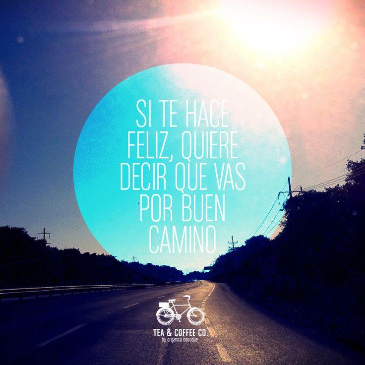 Si te hace feliz, quiere decir que vas por buen camino :)