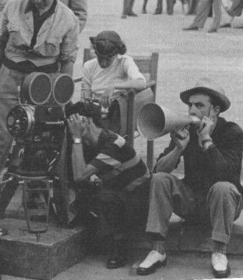 Luchino Visconti sul set di Ossessione