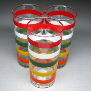 1950s striped glasses. I have two of these in my own kitchen.