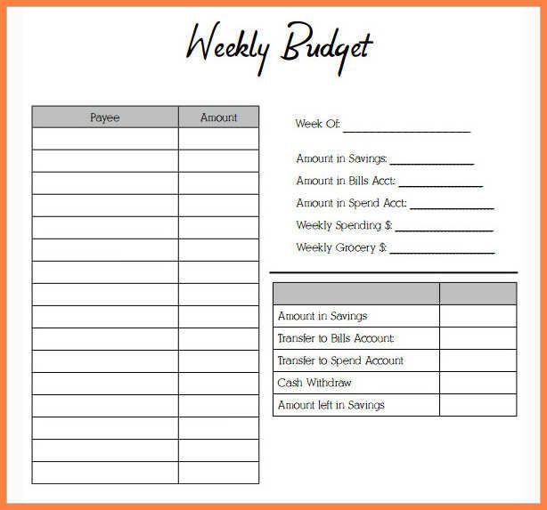 Budget Worksheet Pdf Excel Template With Images Budgeting