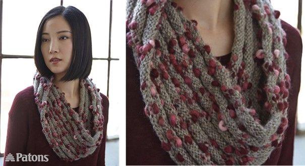 Twisted Ridges Knitted Cowl [FREE Knitting Pattern]
