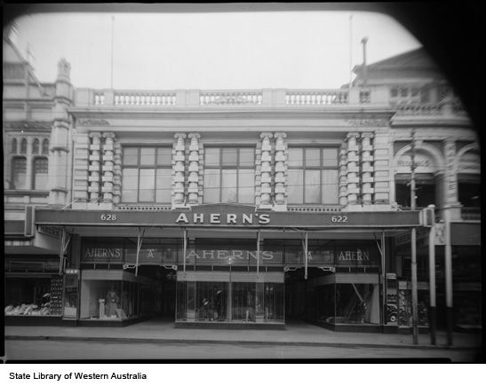Ahern's shop fronts on Hay and Murray Streets, Perth 1950s