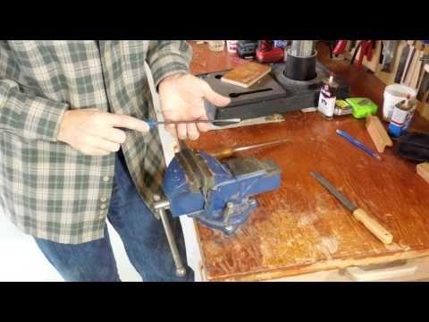 Sharpening (burnishing) cabinet scrapers