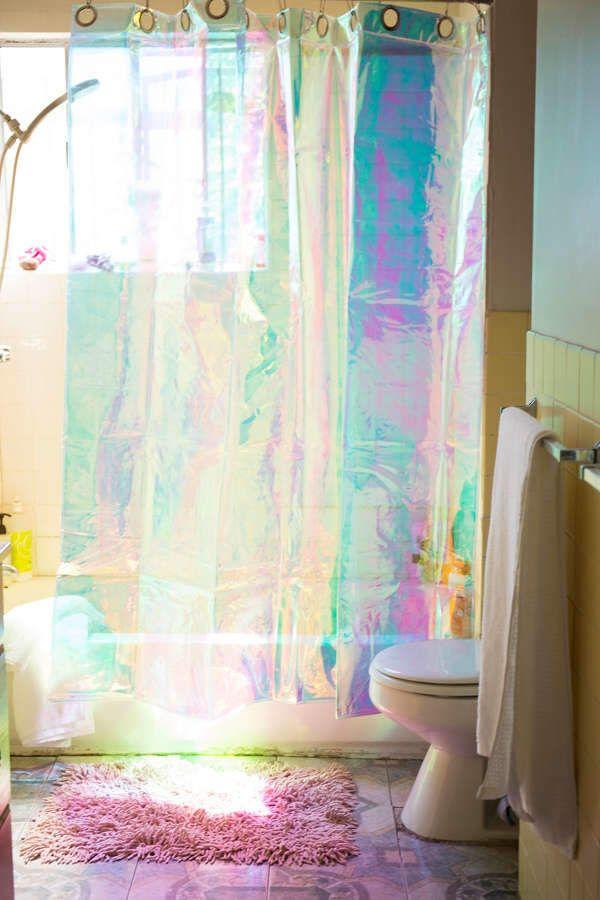 Iridescent Shower Curtain In 2020 Home Decor Bathroom Shower