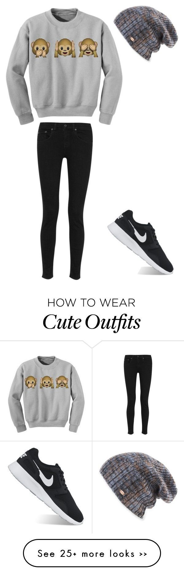 """Lazy Day Outfit"" by september-abbott on Polyvore featuring rag & bone, NIKE and...,  #bone #..."