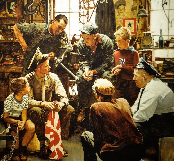 Norman Rockwell - The War Hero (Homecoming Marine), 1945 at the National Museum of the Marine Corps at Quantico VA