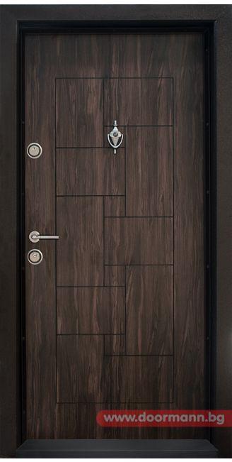 Блиндирана входна врата - Код T100, Цвят Африка