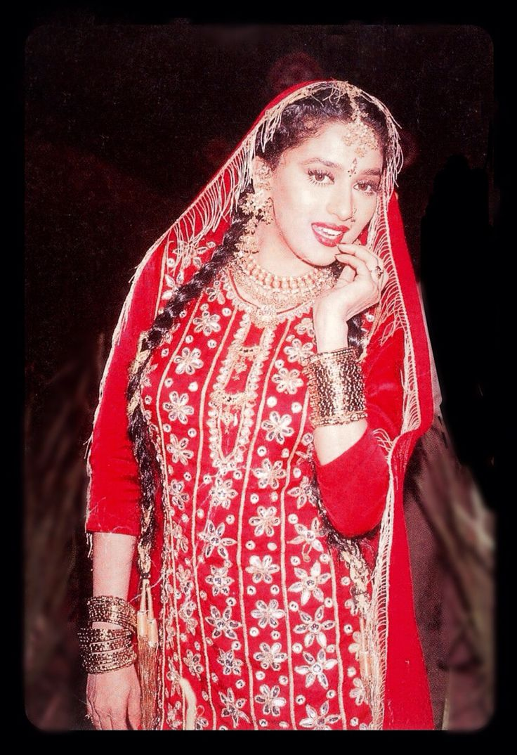Madhuri Dixit in red.