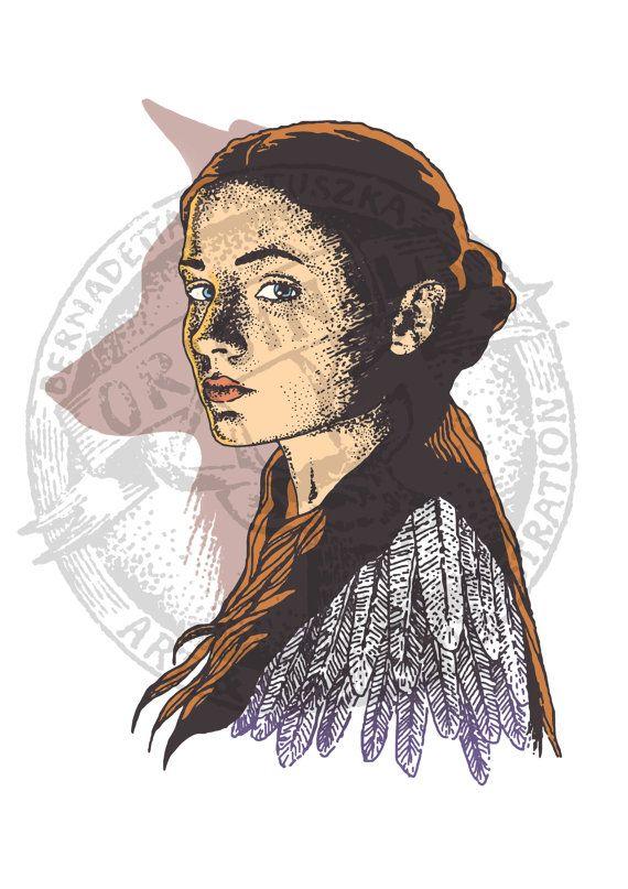 Sansa Stark as Alayne Stone, Game of Thrones fanart #SansaStark #AlayneStone #sansa #fanart #gameofthrones #gotfanart #digital #illustration #drawing #art