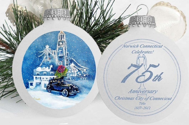 This years Norwich Winter Festival ornament rendition. It will be available for Thanksgiving! ;D