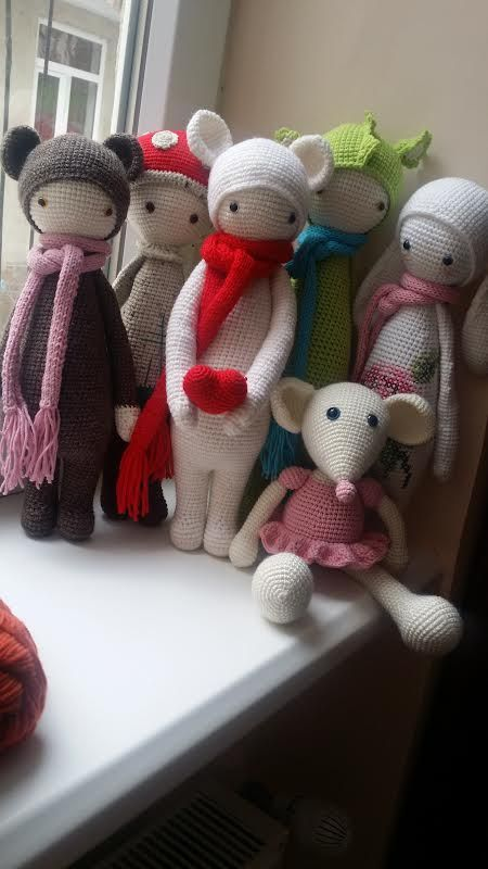 lalylala dolls made by Katja K. / crochet patterns by lalylala