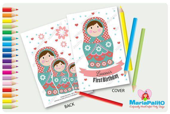 6 Matryoshka Coloring Book Nesting Dolls Coloring Books Personalized