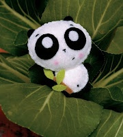 Molde Oso Panda de Fieltro: Projects, Craft, Panda Plushie, Idea, Felt, Stuff, Tutorial, Diy, Pandas