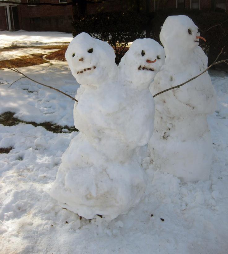 Calvin & Hobbes 2 Headed Snowman.