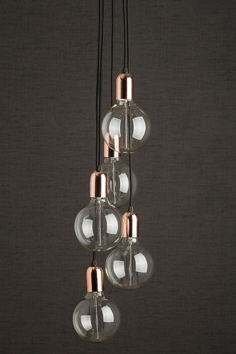 Contemporary Ceiling Lights Copper Cluster Pendant Light At Desresdesign Y