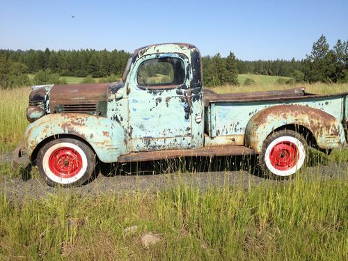 Buy used 1946 Dodge 1/2 ton step side pickup truck hot rat rod like ford NO RESERVE! in Plummer, Idaho, United States