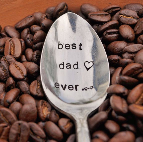 Hand Stamped Vintage Coffee Spoon for your #Coffee Lovin Papa ~ I love you and miss you Pops!  RIP