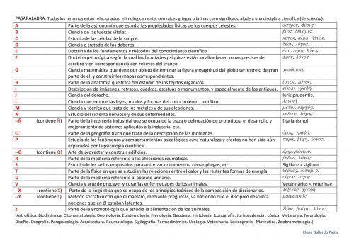 PASAPALABRA II. Ciencias