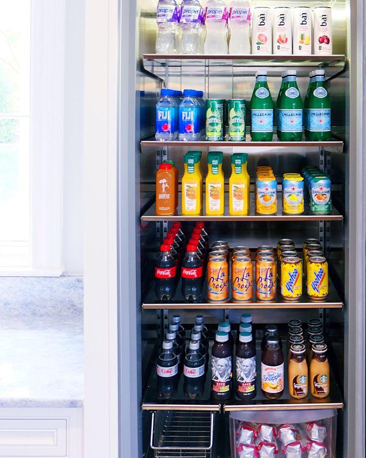 Drink fridge organization