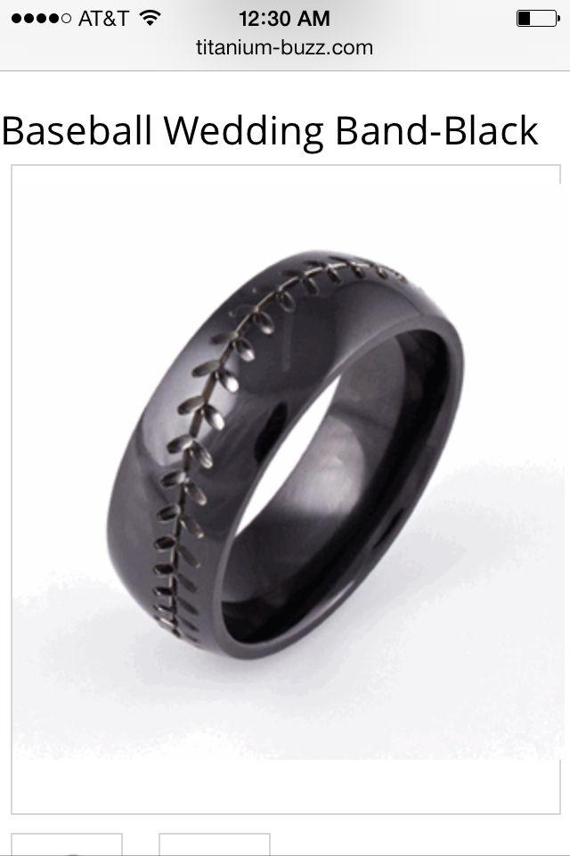 For My Boo Black Baseball Wedding Band Diehard Giants Fan
