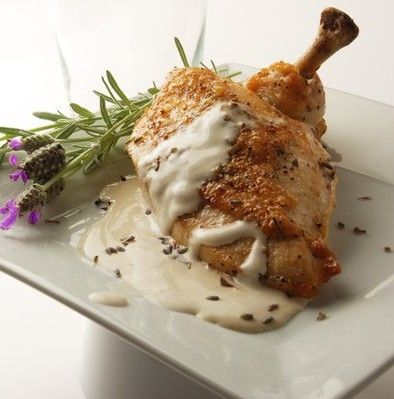 Definition:Airline chicken is a poultry cut commonly used in fine dining restaurants. It is comprised of a boneless chicken breast with the drumetteattached. Generally skin on, the breast is cooked with the first wing joint and tenderloin attached, and is otherwise a boneless cut. Also known as a frenched breast of chicken.