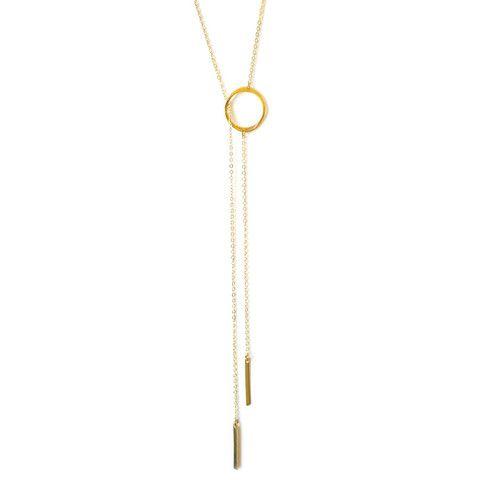Elizabeth Stone - Grace Double Lariat Necklace – Charlie Roc