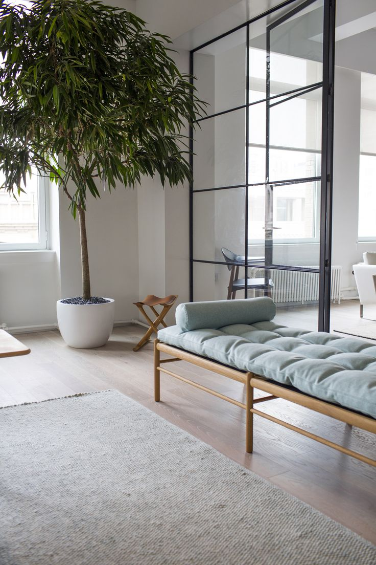 Scandinavian furniture brad Carl Hansen & Son has opened a showroom where you can relax on this daybed or peep more recent collaborations with designers such as Tadao Ando.
