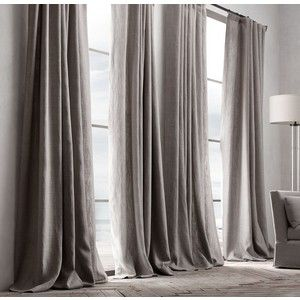 Linen Curtain With Velvet Border   Google Search