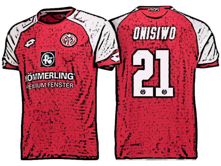 FSV Mainz 05 Kit Jersey For Cheap karim onisiwo 17-18 Home Shirt